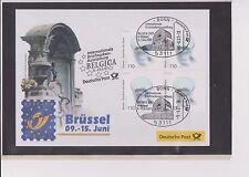 BRD-2001-Briefm.-Ausst.-Beleg-Belgica Brüssel-09-15-06-2001-Mi:2185- So-Stpl.