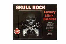 "SKULL ROCK LUXURY PLUSH BLANKET BEDSPREAD..79"" X 94"" INCHES"