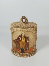 More details for a bretby art pottery dickensian ware tabacco jar no.3035, appr.11cm tall