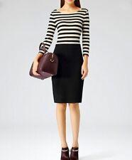Reiss Bronte Textured Stripe Bodycon Dress Size 6 NEW RRP £129