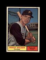 1961 Topps Baseball #304 Rocky Nelson (Pirates) NM