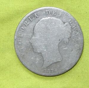 1874 UK Silver HALF Crown coin Victoria (1837 - 1901) Combine Postage