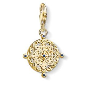 New Genuine Thomas Sabo Gold Plated Sterling Silver Compass Charm ref 1662 £79