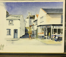 Beautiful Watercolour Of  Suffolk Village.