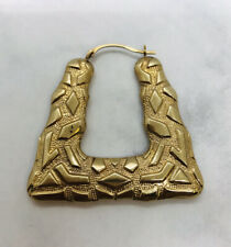One lost my earring Medium 9ct yellow gold creole earrings weight 2.50 grams