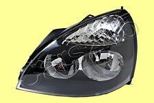 Headlight Lamp Black LEFT Fits RENAULT Clio Facelift 5DR Hatchback 2001-2004
