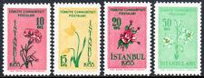 Turkey 1154-1157, MNH. Natl. Flower Show,Istanbul.Carnation,Tulip,Rose,Lily,1955