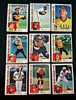 Lot of 9 1984 Topps Pittsburgh PIRATES Bill Madlock, Dave Parker, baseball MINT