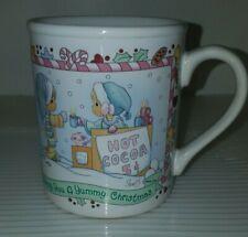 Precious Moments Ceramic Cup 1996 Christmas Wishing You A Yummy Christmas