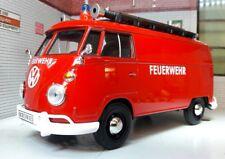 G LGB 1:24 Scale VW T1 Type 2 Fire Engine Diecast Model Van 1962 Motormax