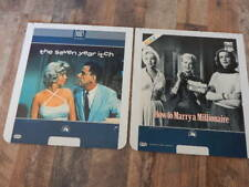 Vintage CED Videodisc LOT- 7 Year Itch, How to Marry Millionaire-Marilyn Monroe