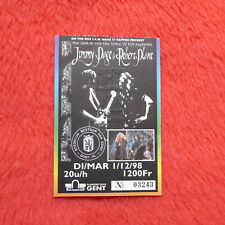 Jimmy Page Robert Plant Used Concert Ticket Flanders Expo Gent 1998