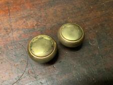 Vintage Brass Door Knobs, Round door Hardware Pair