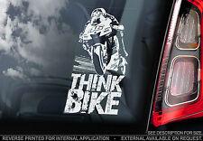 THINK Bike! - VALENTINO ROSSI Auto Adesivo-DOCTOR #46 - Ricavato in beneficenza-V01