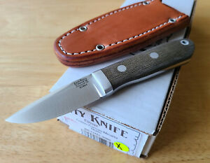 Bark River City Knife Elmax blade Green Micarta Handle