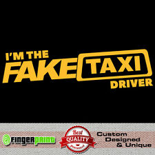 FAKE TAXI faketaxi sticker vinyl decal bumper window funny dub jdm fun die cut