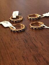 Job Lot 925 Diamond 18ct Gold Plated Sapphire Rings RRP £200
