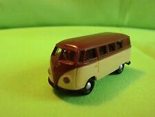 2 BREKINA    VW BUS VOLKSWAGEN  - OLD   1:87  -    IN GOOD CONDITION