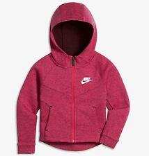 Nike Sportswear Tech Fleece Full Zip Hoodie- Vivid Pink- Girls Size 6 (Age 5-6)