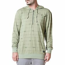 ARBOR Cotton PULLOVER 1/4 Zip HOODIE Hood POUCH Pocket SWEAT SHIRT Mens sz SMALL