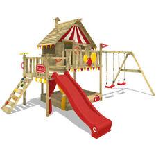 WICKEY Smart Trip Baumhaus Spielturm Klettergerüst Rutsche Schaukel Sandkasten