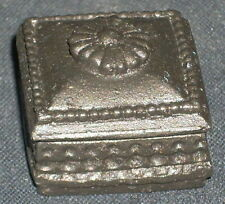 Dollhouse Miniature ONE Jewelry or Game Box Dark Bronze Color 1:12 Scale
