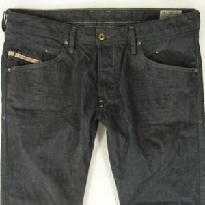 Mens Diesel BELTHER 0088Z Slim Straight Blue Jeans W36 L32
