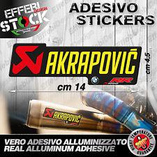 Adesivo / Sticker AKRAPOVIC BMW MOTORRAD S 1000 RR HP4 ALTE TEMP 200°gradi