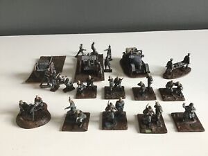 World War One German, Infantry, Artillery & Staff Car painted 1/72 soldiers