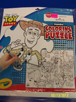 RARE Toy Story 3 Disney Pixar Cartoon Birthday Party Game Jumbo Coloring Puzzle