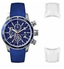 Nautica Men's N23605G Box Set Blue & White Strap Watch