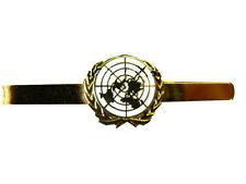 UN United Nations White Tie Clip