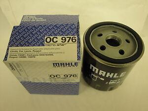 Peugeot  206 1.1 1.4 1.6 2.0  Oil Filter  1998-2000 MAHLE OC976