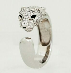 Panther Jaguar Cat Pantera Men biker Rider Ring 925 silver high end size 10/10.5