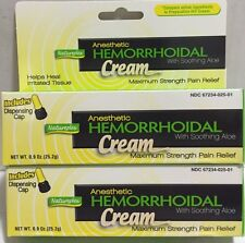 2 Natureplex Hemorrhoid Hemorrhoidal Cream W/Soothing Aloe Max Strength Relief