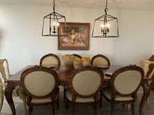 Henredon Dining Set Large Table With 6 Chairs: 2 Arm Chairs And 4 Chairs