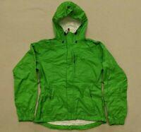 Sierra Designs Hurricane Jacket Vented Hooded Rain Packable Women's Small Green