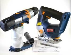 Ryobi One Plus CCK-18/2-008SC Hammer Drill Jigsaw 18V Cordless Set Bare Tools