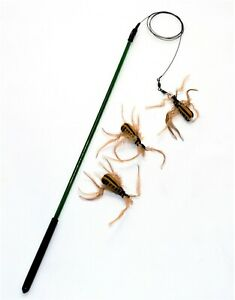 """Litterboy 18"""" Catcher Wand / Rod with Brown Spider and 2 Brown Spider Refills"""