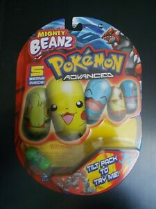 Mighty Beanz Pokemon Advanced 5 Pack New, #19 Treecko Bean On Front, Spin Master