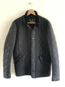 Barbour Men's Chelsea Quilted Jacket Dark Navy Sz XS (fits like S or slim M)