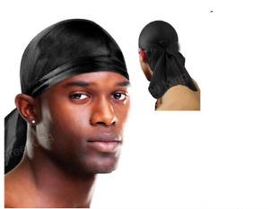 Men's Durag Headwear Breathable Close Fit Tie Down Sport Du Rag Head Scarf Wrap