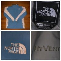 The North Face Girl's Blue And White Hyvent Light Insulated Ski Jacket  XL (18)