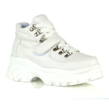 Womens Lace Up High Top Trainers Ladies Chunky Platform Retro Sneakers Shoes 3-8