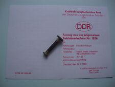 DDR Fortschritt LPG KTA KFZ Brief Betriebserlaubnis Anhänger GG 1720 KG Nr. 1816