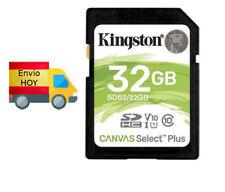 TARJETA DE MEMORIA SD KINGSTON 32GB 32 V30 CLASE 10 ENVIO HOY