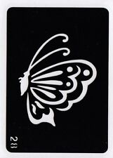 GT28 Body Art Temporary Glitter Tattoo Stencil - Butterfly Butterflies