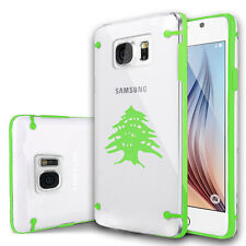 For Samsung S7 S5 S6 Edge Note Clear Hard TPU Case Cedar Tree Lebanon Lebanese