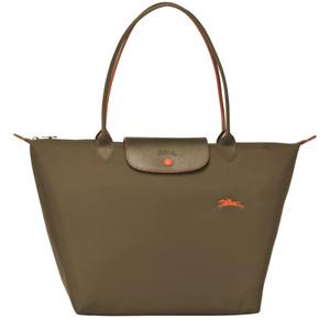 France Made Longchamp Le Pliage Club Collection Large Tote Khaki