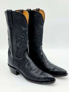 1883 by Lucchese Snip Toe Ranch Black Leather boots Ladies Size 8B